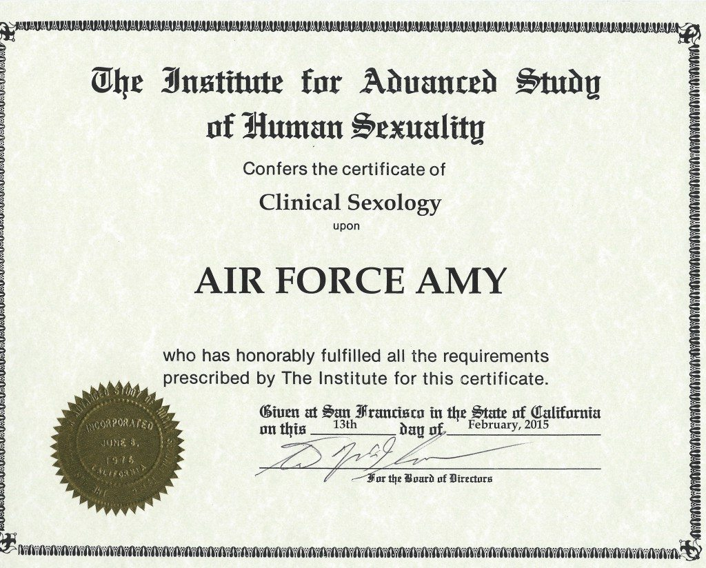 Diploma Clinical Sexology